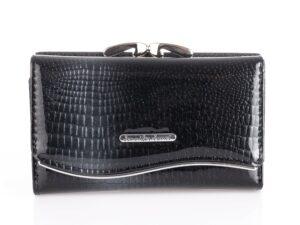 Czarny portfel damski z brokatem Jennifer Jones