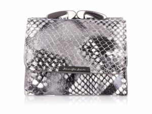 Srebrny mały portfel damski lakierowany Jennifer Jones