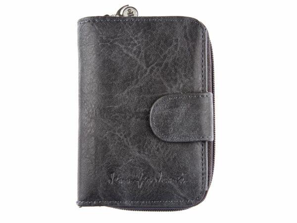 Ciemno szary portfel damski ze skóry syntetycznej jennifer Jones