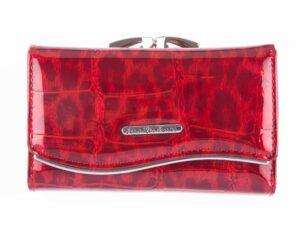 Czerwony lakierowany portfel damski cieniowany Jennifer Jones
