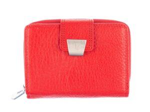 Średniej wielkości czerwony portfel damski Jennifer Jones