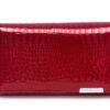 Pojemny portfel damski z wewnętrzną kieszenią na bilon Jennifer Jones czerwony