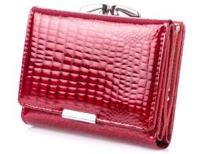 Średni portfel damski czerwony lakierowany Jennifer Jones na bigiel