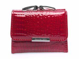 Mały portfel damski na bigiel czerwony lakierowany Jennifer Jones